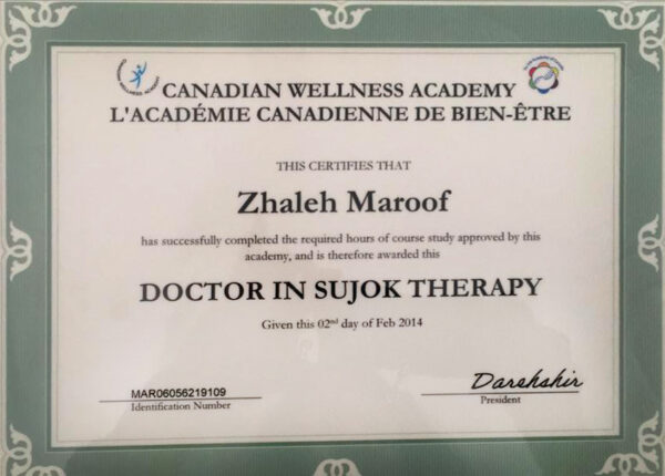 doctor in sujok therapy